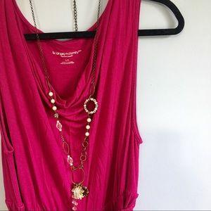 Liz Lange Maternity pink knee belted length dress